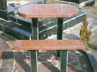 Гранитные столы на могилу, лавки - скамейки на кладбище