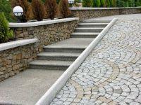 Ступени из камня, гранитные ступени для лестницы - Коростышев