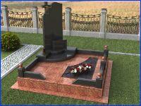Комплекты памятников из гранита в 3d, каталог форм, фото